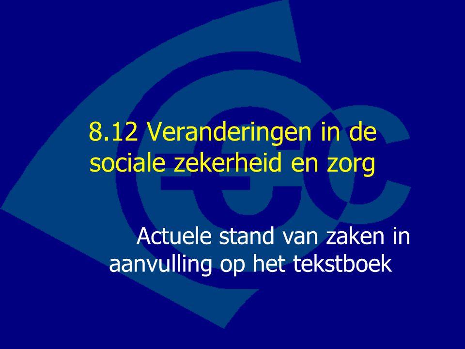 8.12 Veranderingen in de sociale zekerheid en zorg
