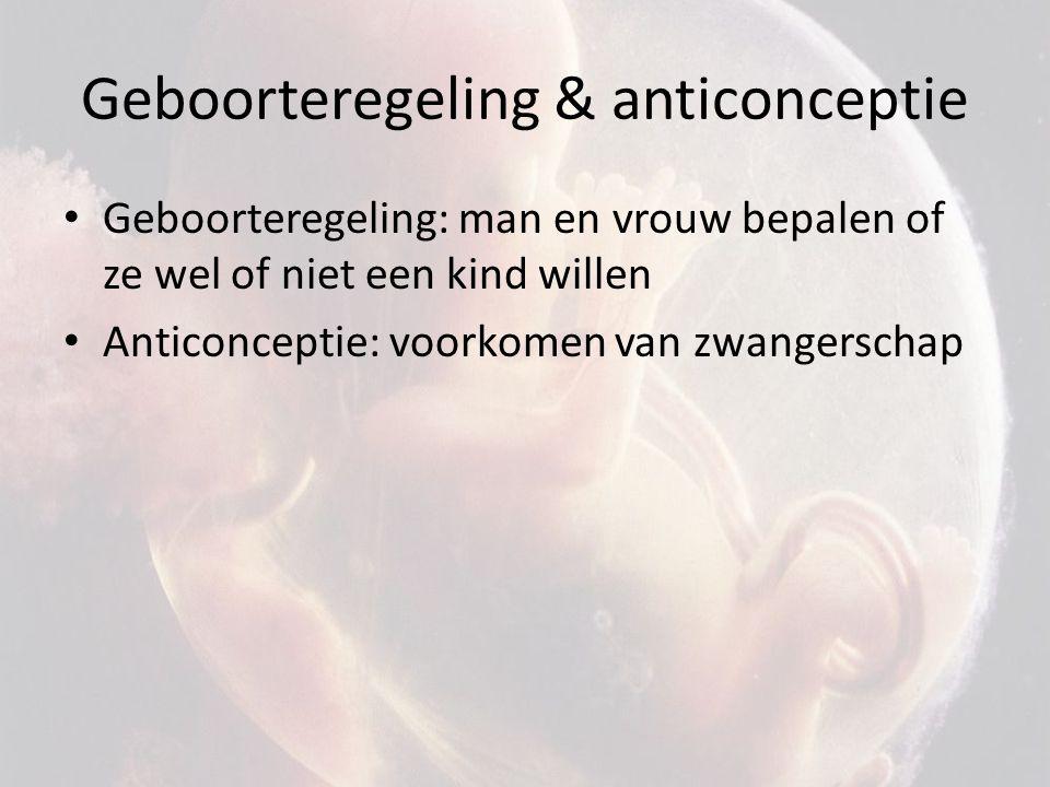 Geboorteregeling & anticonceptie