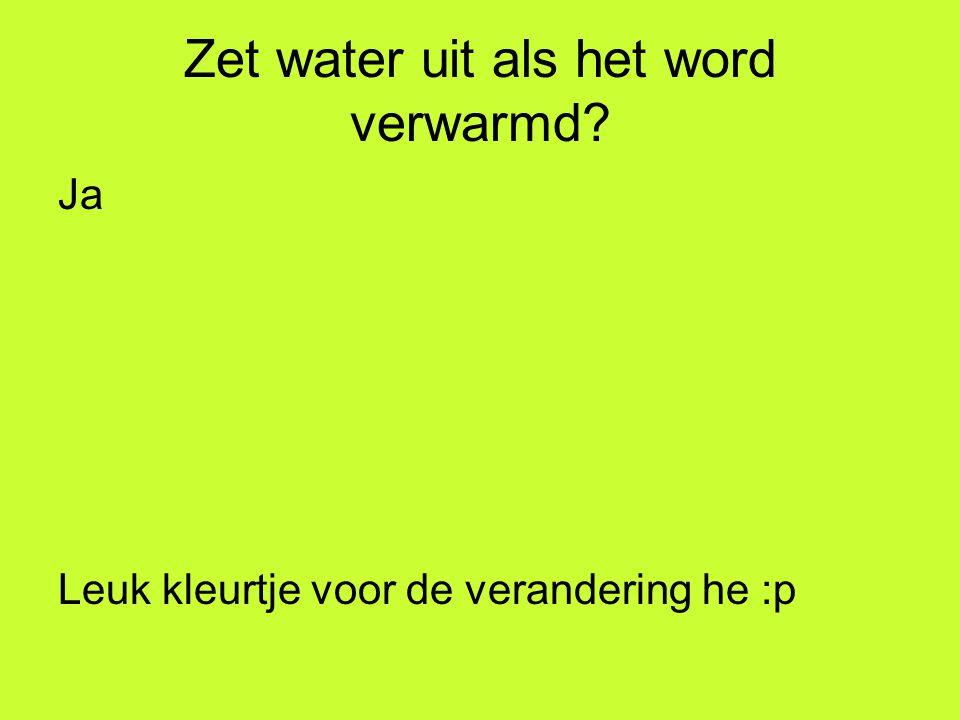 Zet water uit als het word verwarmd