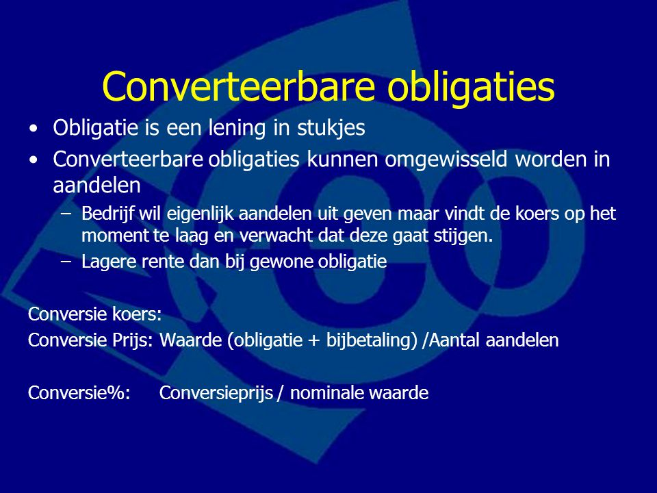 Converteerbare obligaties