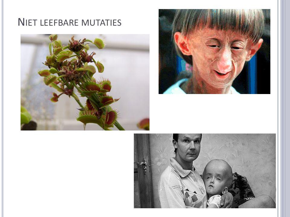 Niet leefbare mutaties
