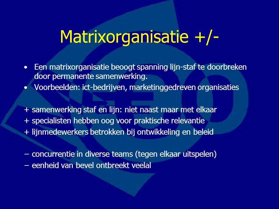 Matrixorganisatie +/-