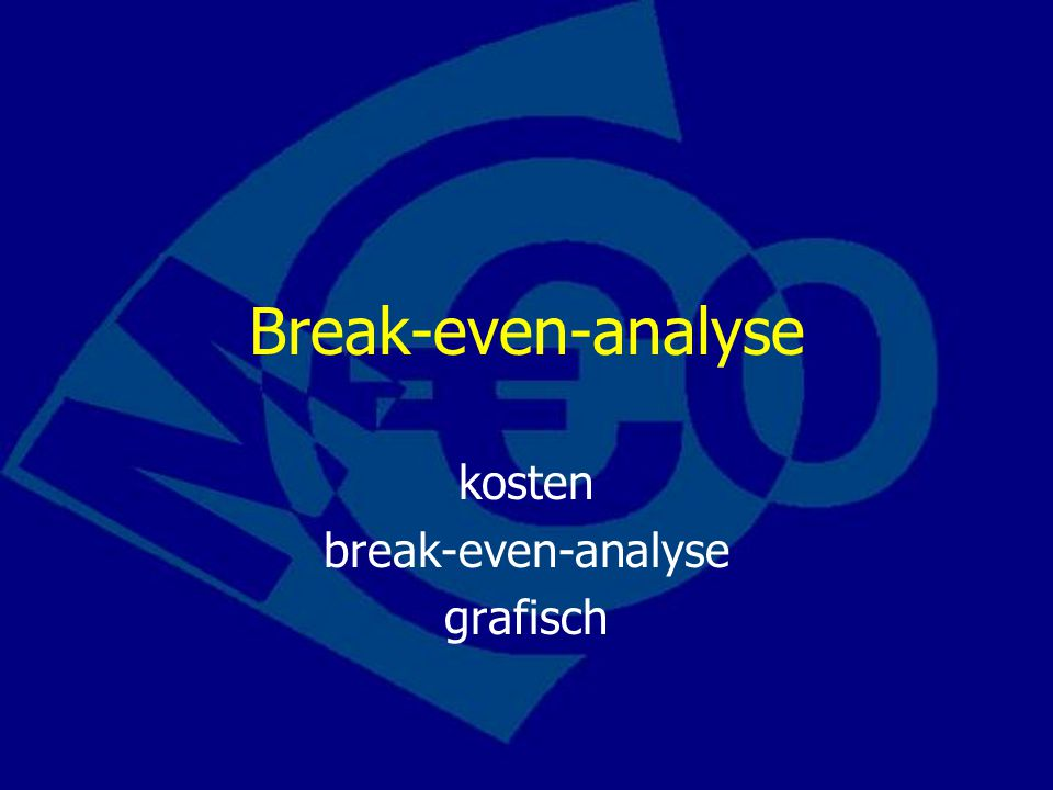 kosten break-even-analyse grafisch