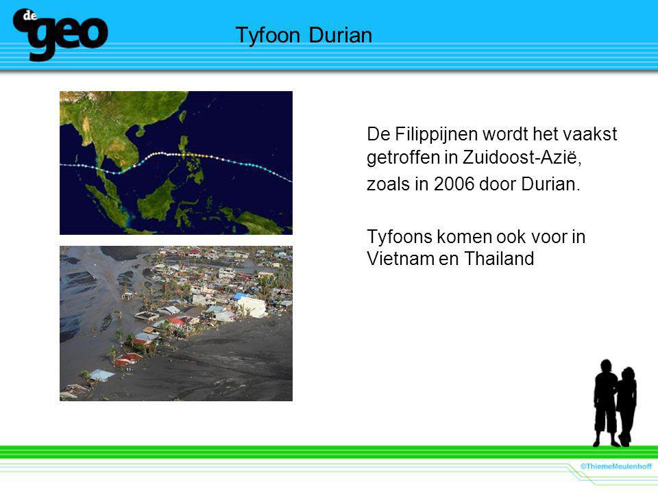 De Filippijnen wordt het vaakst getroffen in Zuidoost-Azië,