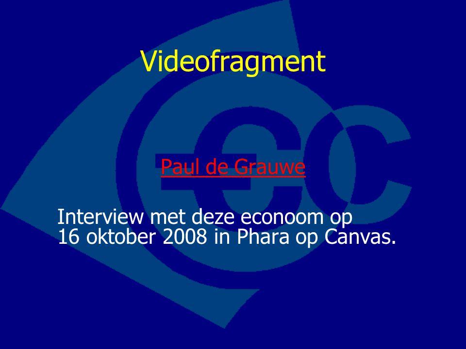 Videofragment Paul de Grauwe