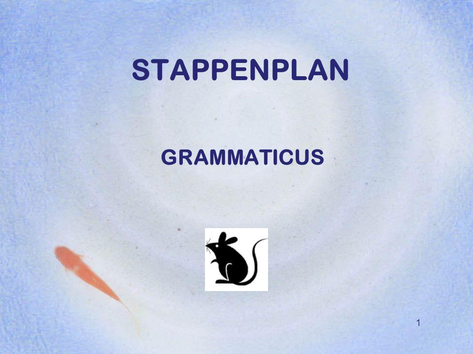 STAPPENPLAN GRAMMATICUS