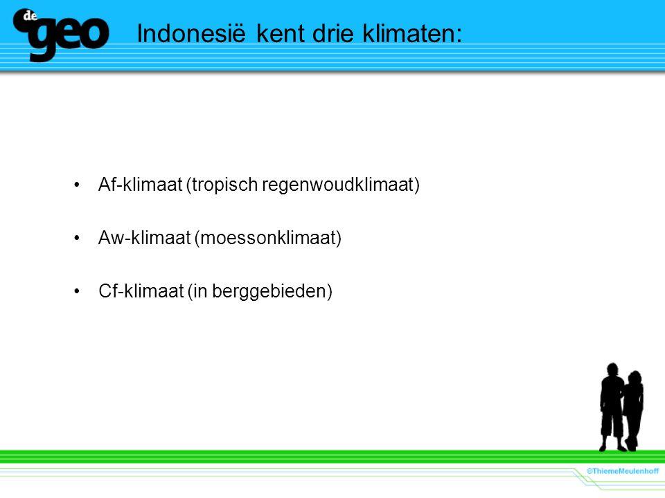 Indonesië kent drie klimaten: