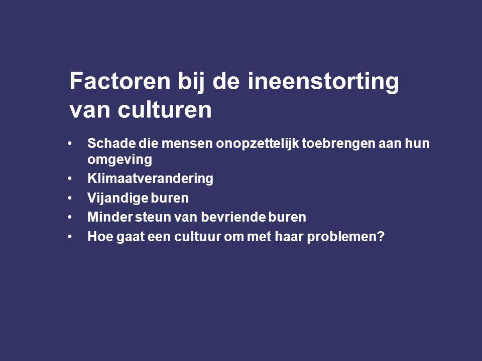 Factoren bij de ineenstorting van culturen