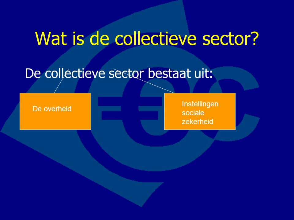 Wat is de collectieve sector