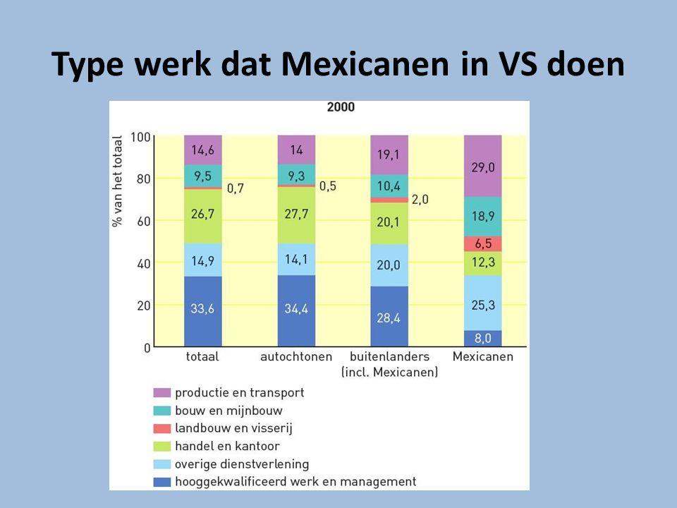 Type werk dat Mexicanen in VS doen