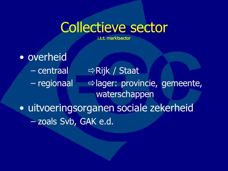 Collectieve sector i.t.t. marktsector
