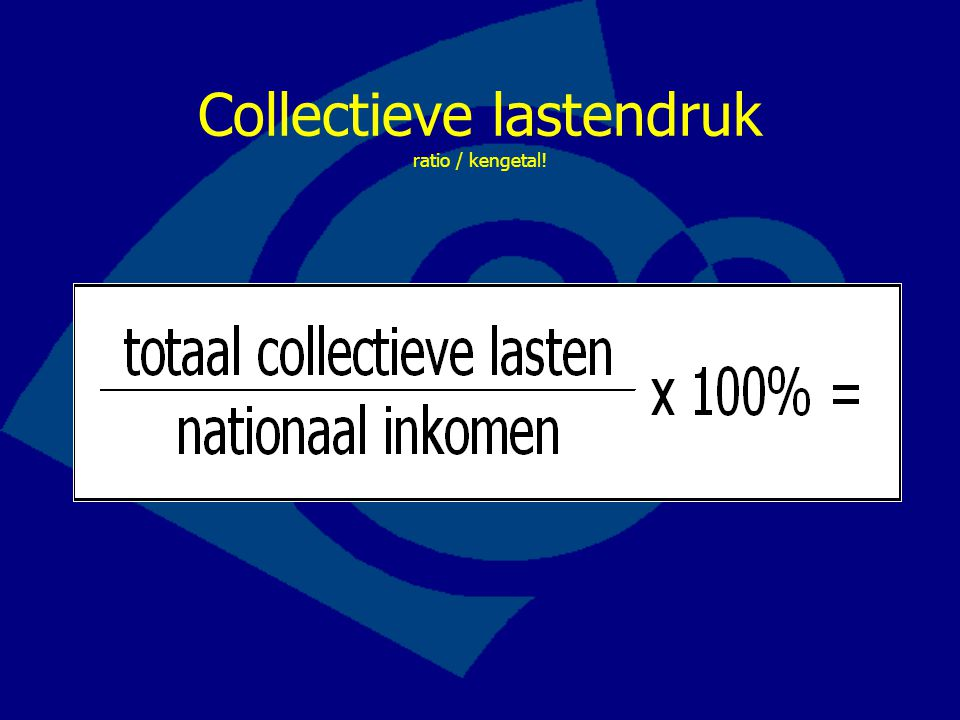 Collectieve lastendruk ratio / kengetal!