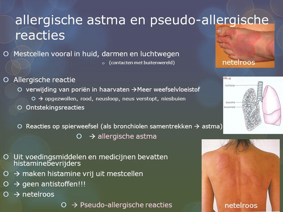 allergische astma en pseudo-allergische reacties