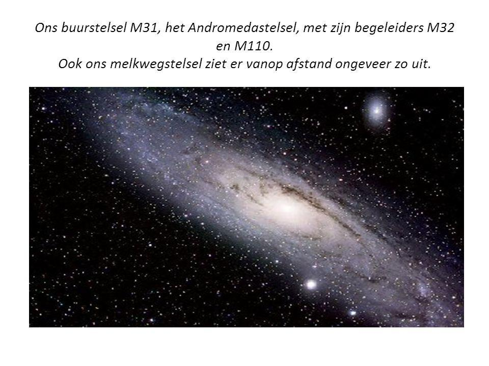 Ons buurstelsel M31, het Andromedastelsel, met zijn begeleiders M32 en M110.