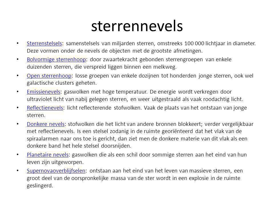sterrennevels