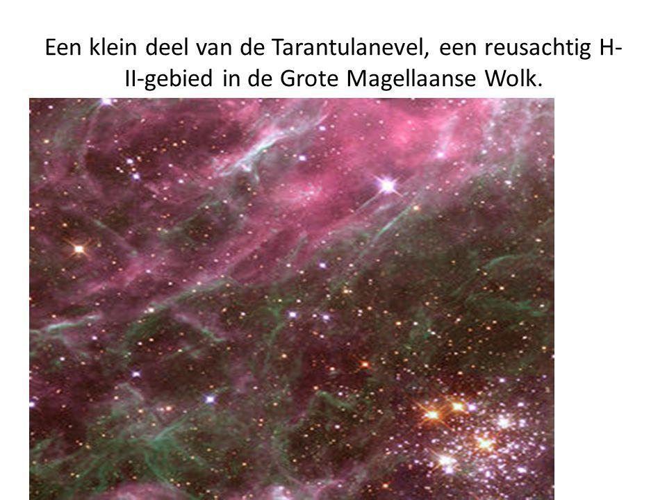 Een klein deel van de Tarantulanevel, een reusachtig H-II-gebied in de Grote Magellaanse Wolk.