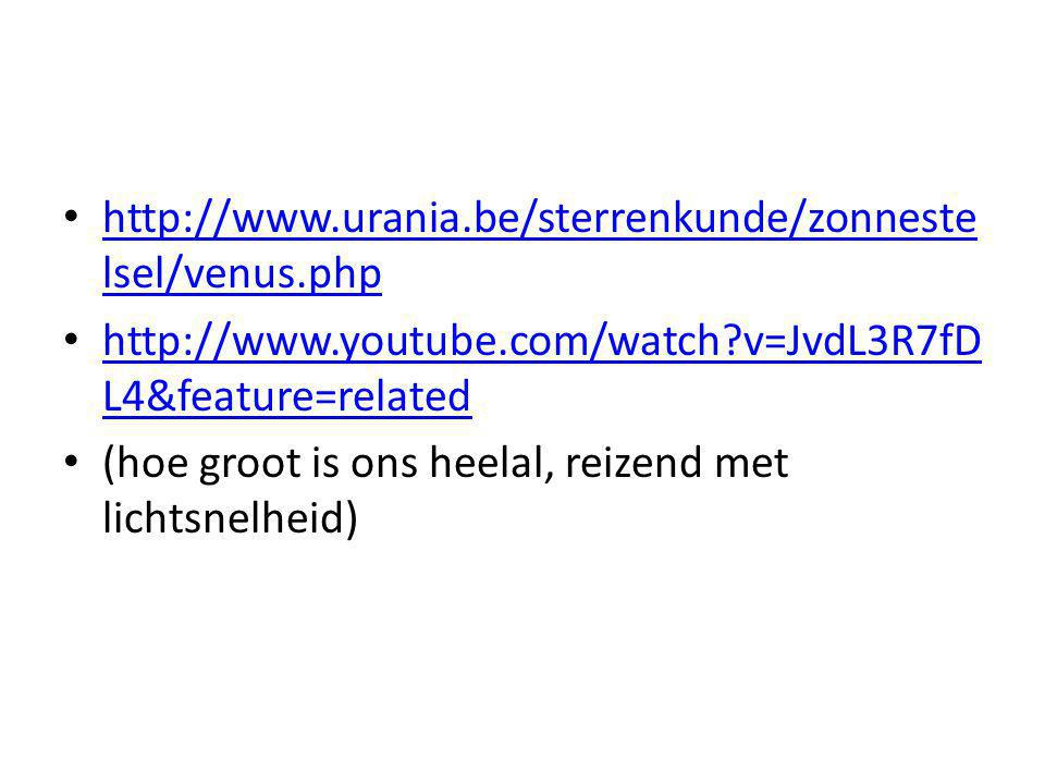 http://www.urania.be/sterrenkunde/zonnestelsel/venus.php http://www.youtube.com/watch v=JvdL3R7fDL4&feature=related.