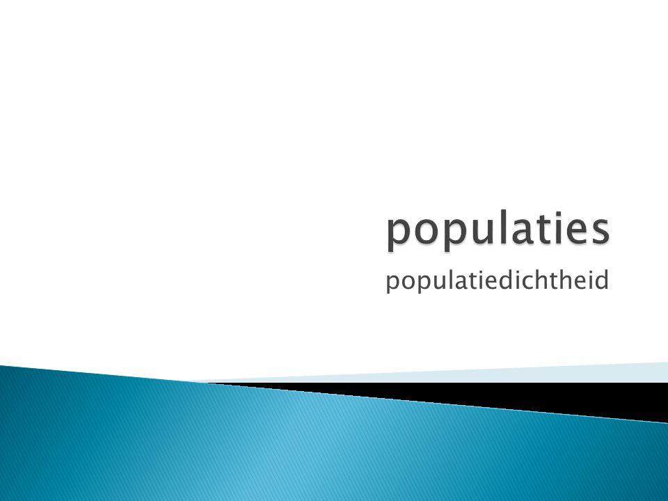 populaties populatiedichtheid
