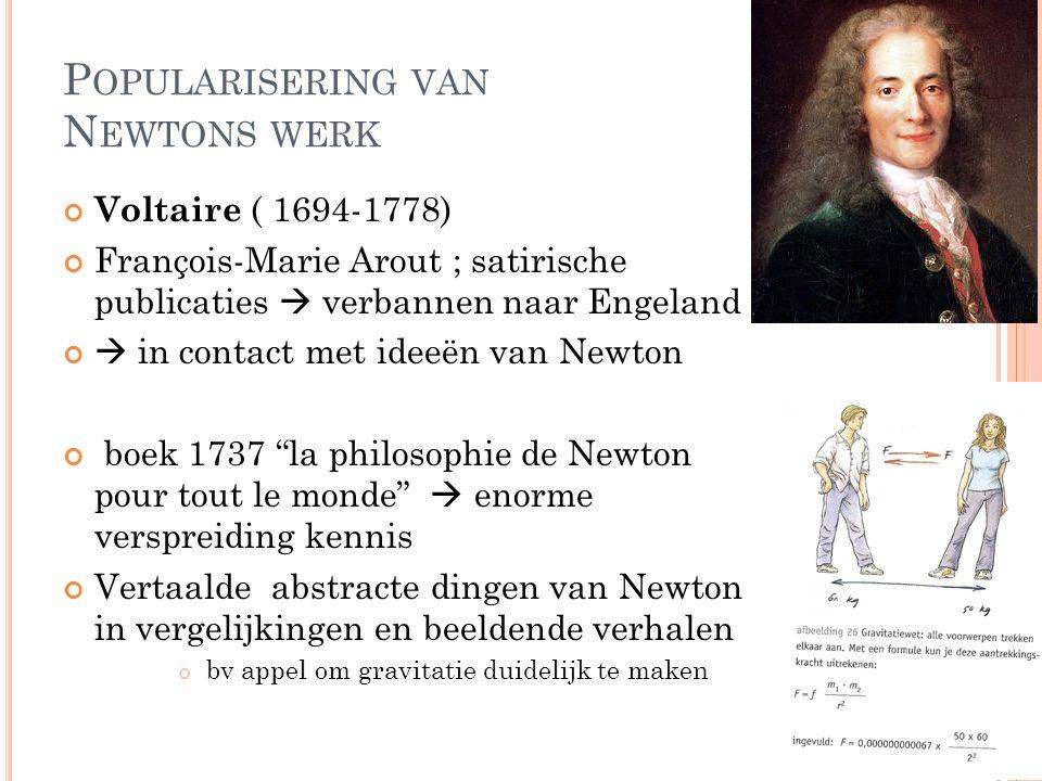 Popularisering van Newtons werk
