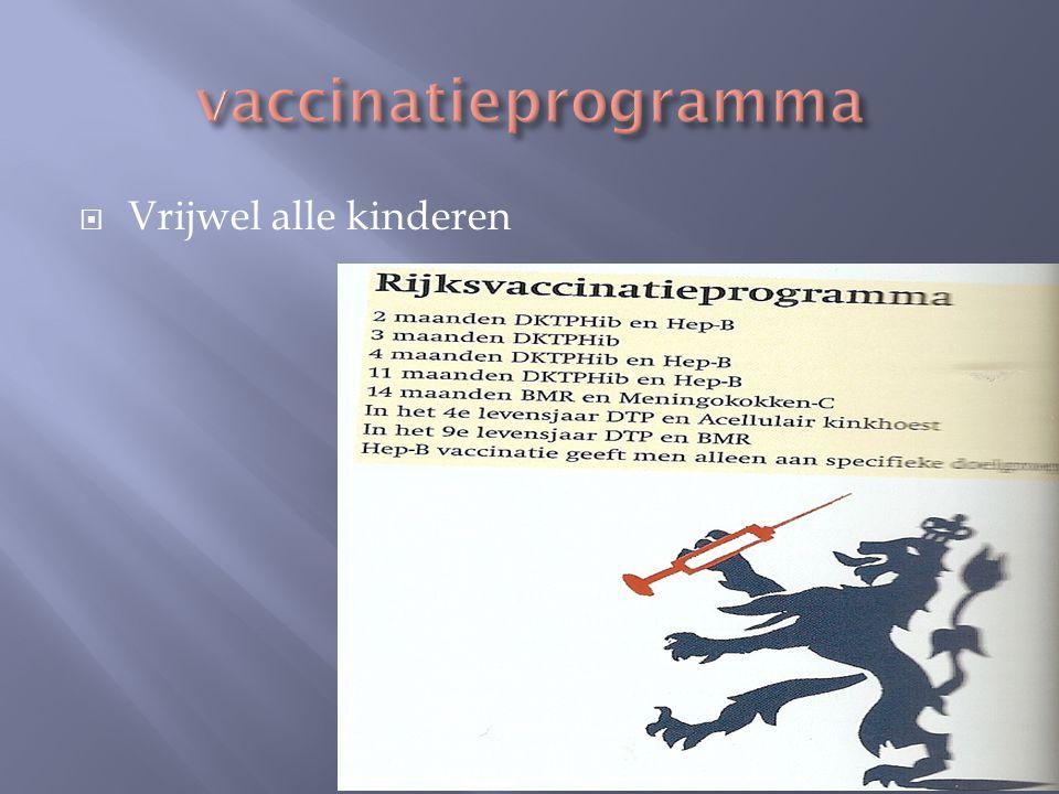 vaccinatieprogramma Vrijwel alle kinderen
