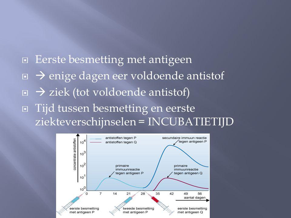 Eerste besmetting met antigeen