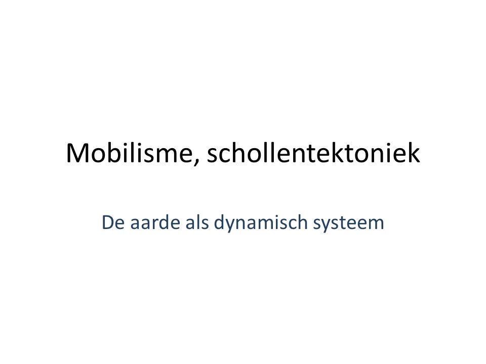 Mobilisme, schollentektoniek