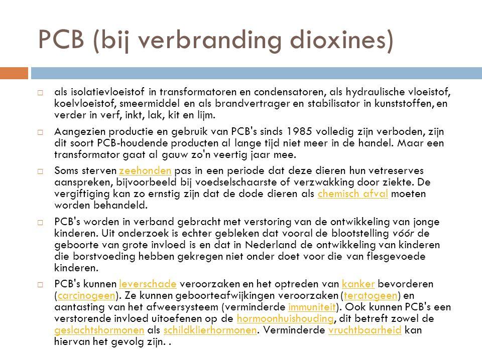 PCB (bij verbranding dioxines)