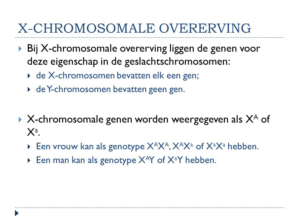 X-chromosomale overerving
