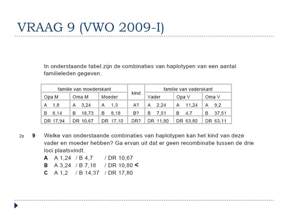 VRAAG 9 (VWO 2009-I) <