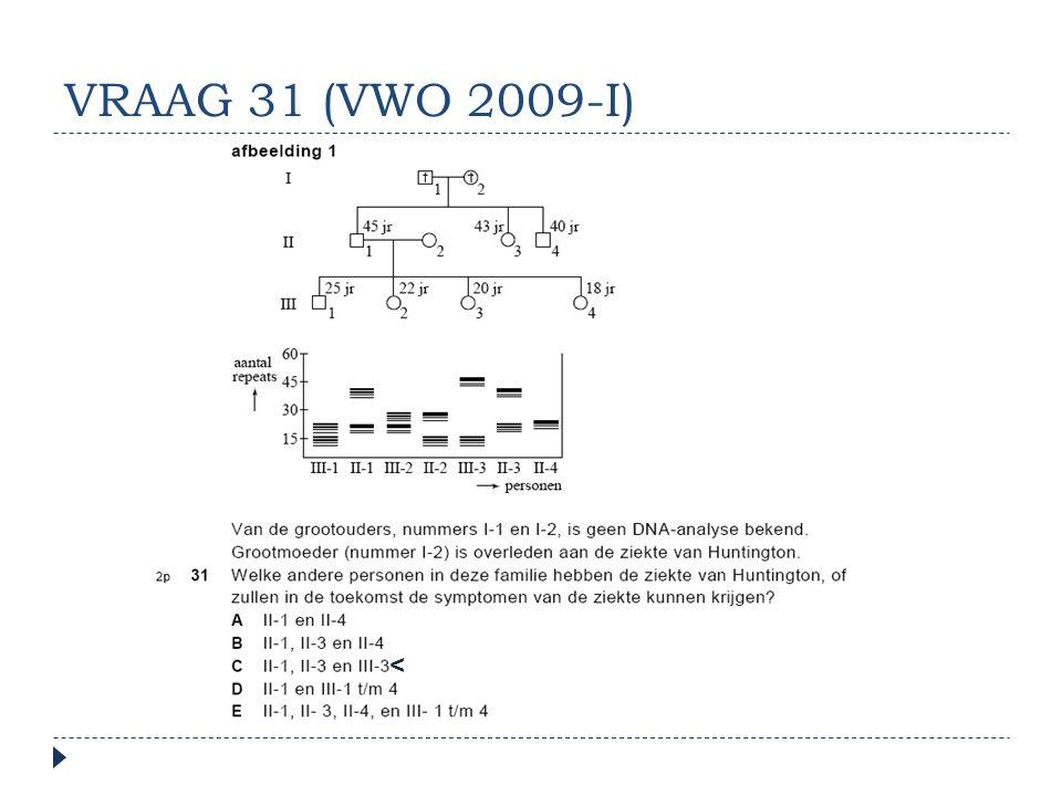 VRAAG 31 (VWO 2009-I) <