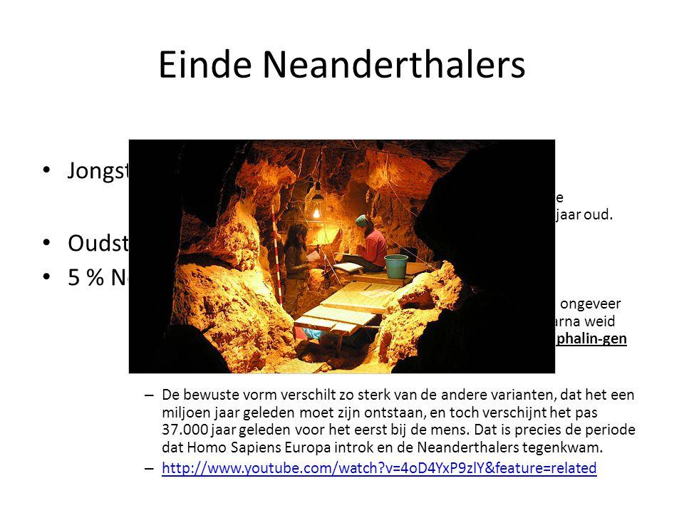 Einde Neanderthalers Jongste Neanderthalervondst = 27 000j oud