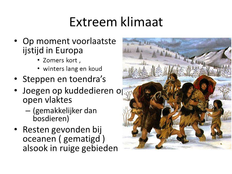 Extreem klimaat Op moment voorlaatste ijstijd in Europa