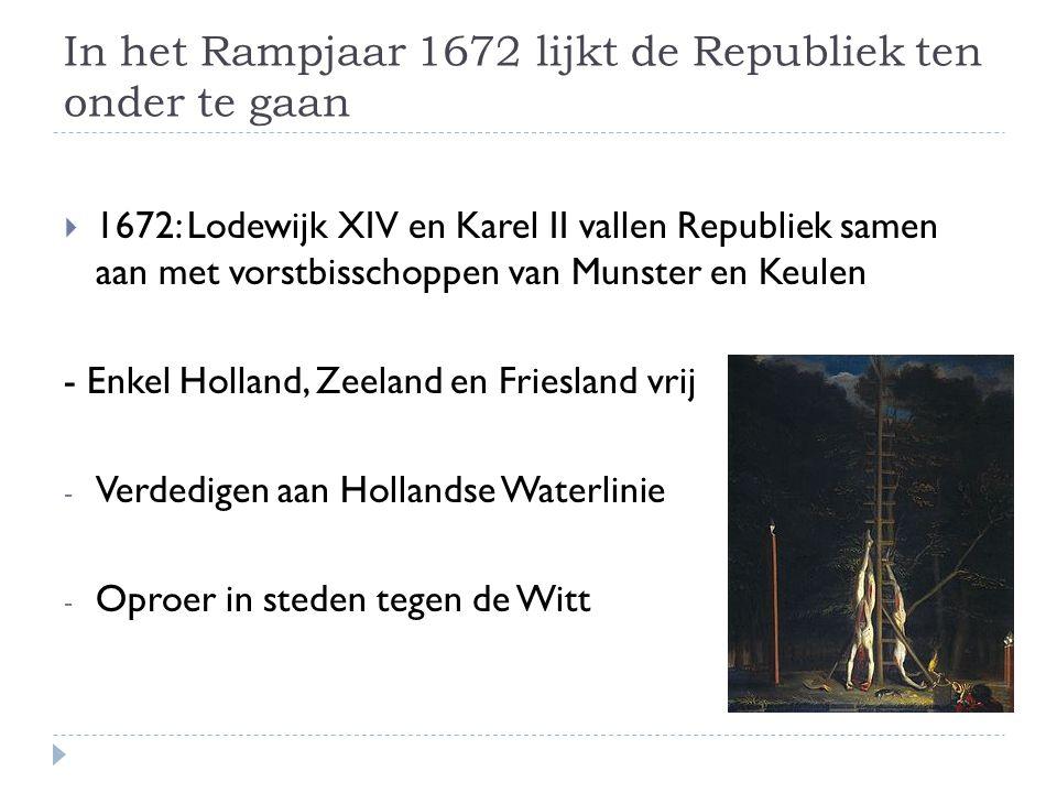 In het Rampjaar 1672 lijkt de Republiek ten onder te gaan