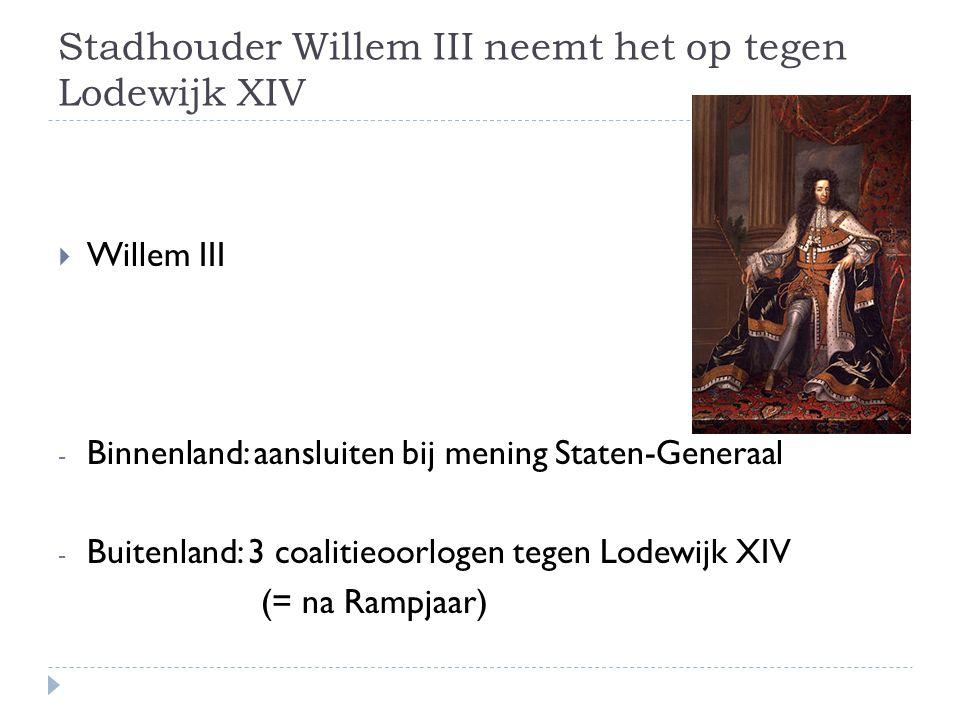 Stadhouder Willem III neemt het op tegen Lodewijk XIV