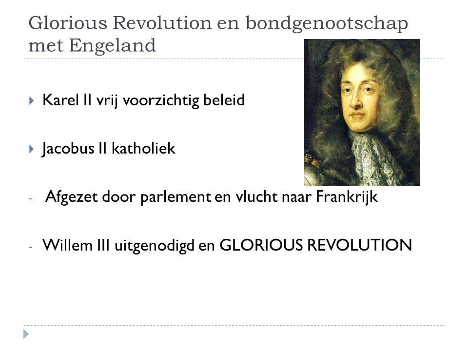 Glorious Revolution en bondgenootschap met Engeland
