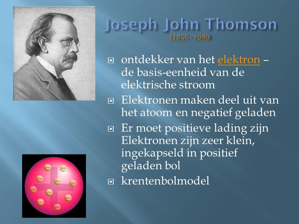 Joseph John Thomson (1856 -1940)
