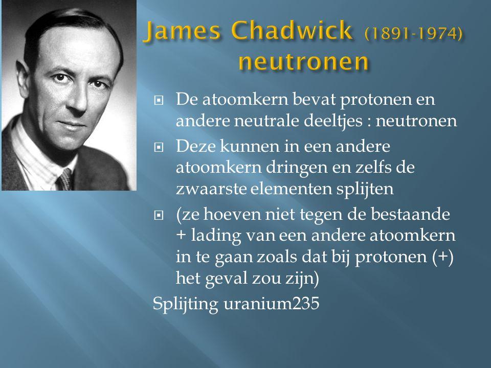 James Chadwick (1891-1974) neutronen