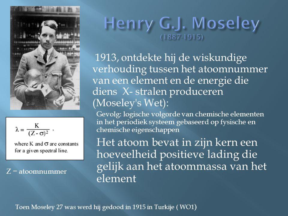Henry G.J. Moseley (1887-1915)