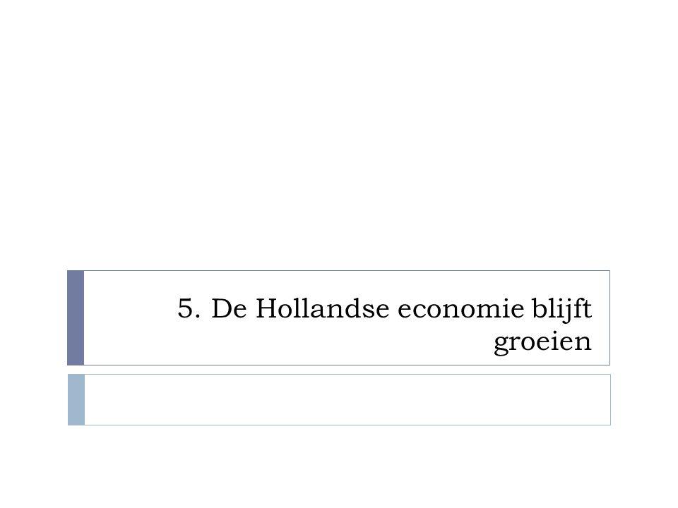 5. De Hollandse economie blijft groeien