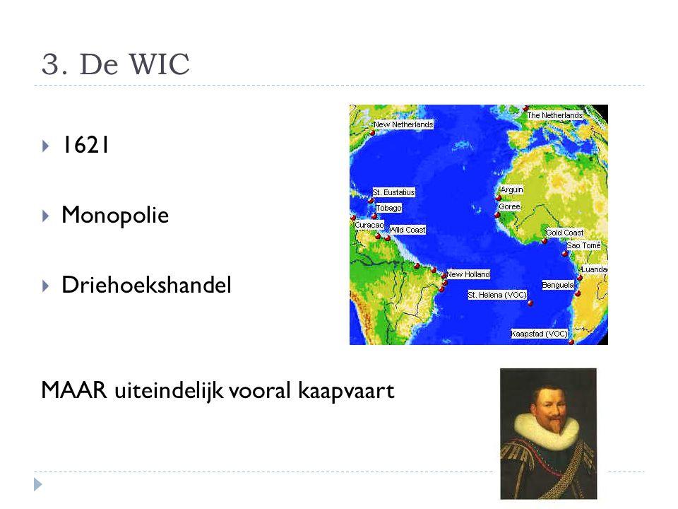 3. De WIC 1621 Monopolie Driehoekshandel