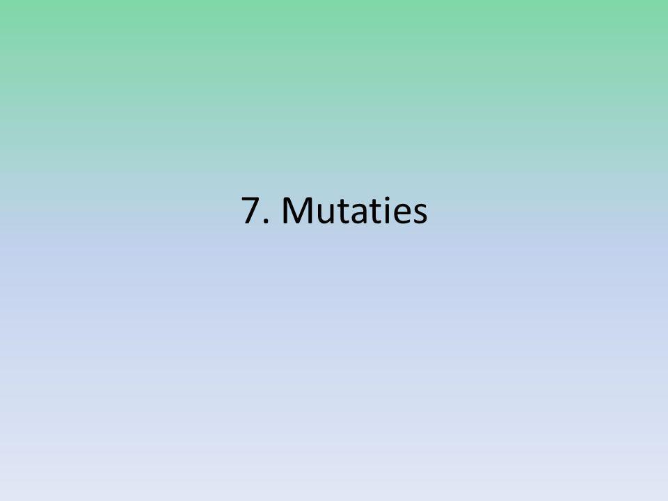 7. Mutaties