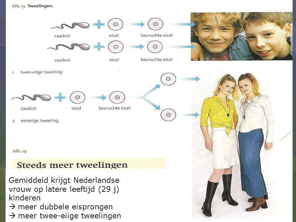 Gemiddeld krijgt Nederlandse vrouw op latere leeftijd (29 j) kinderen