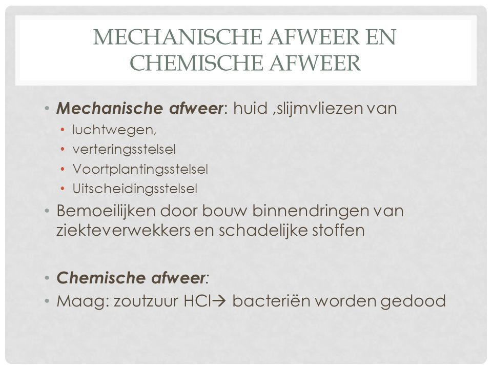 Mechanische afweer en chemische afweer