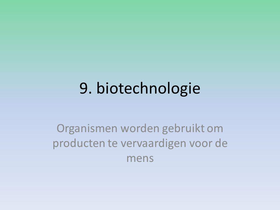 Organismen worden gebruikt om producten te vervaardigen voor de mens