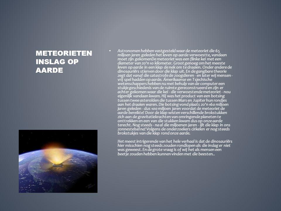 Meteorieteninslag op aarde