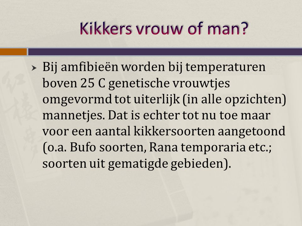 Kikkers vrouw of man