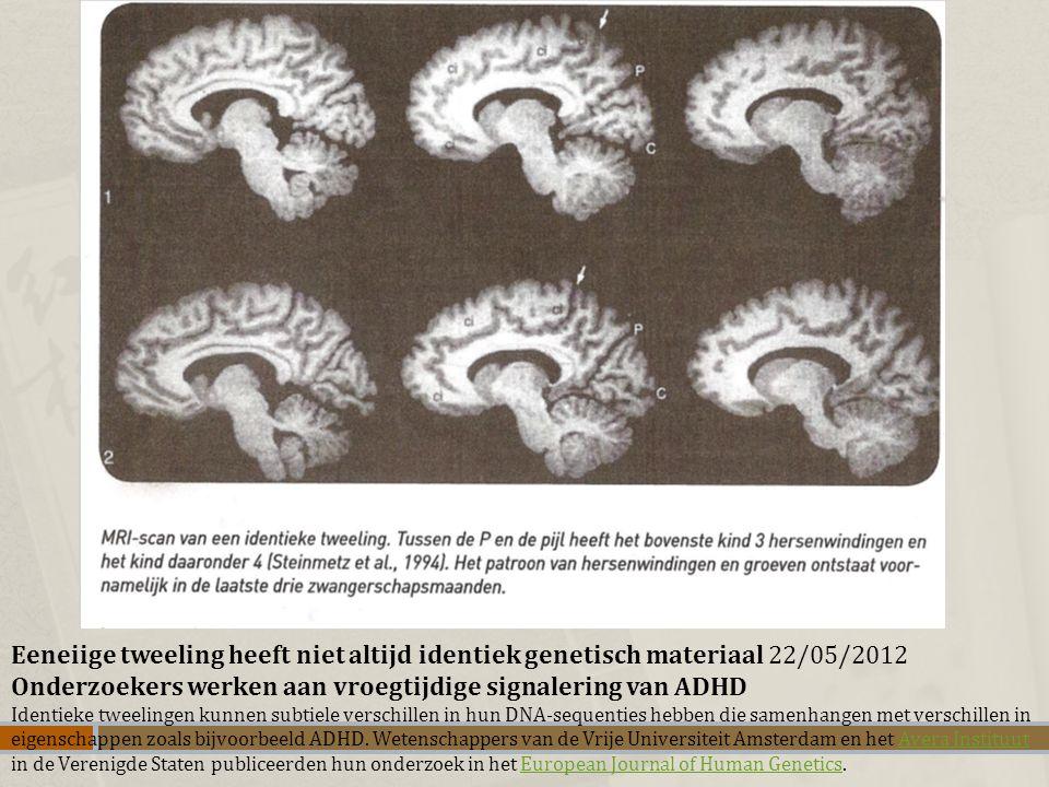 Onderzoekers werken aan vroegtijdige signalering van ADHD