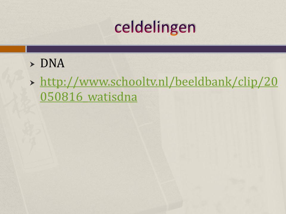 celdelingen DNA http://www.schooltv.nl/beeldbank/clip/20050816_watisdna