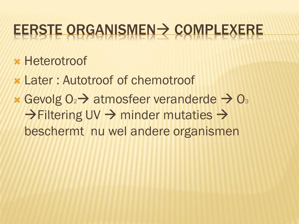 Eerste organismen complexere
