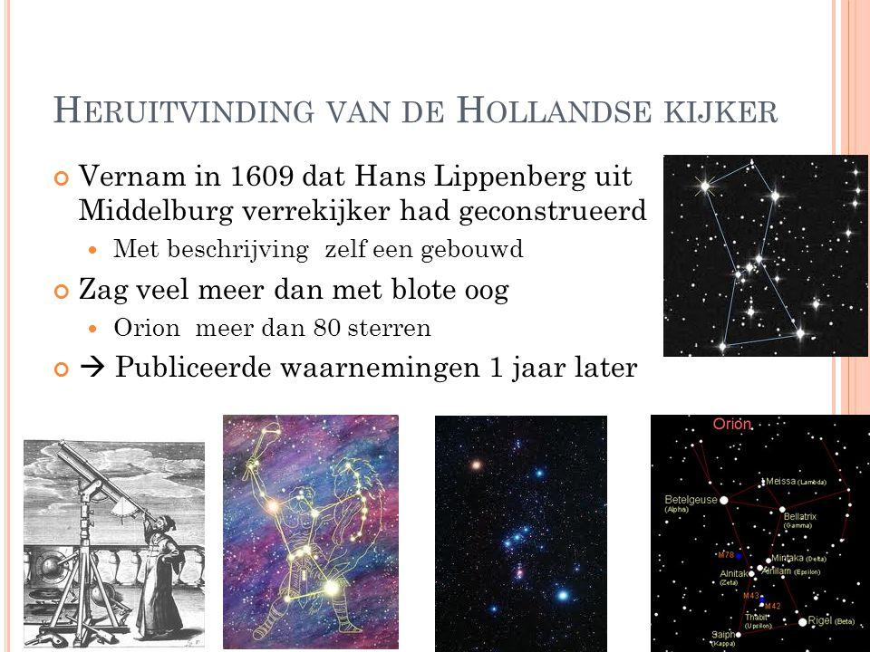 Heruitvinding van de Hollandse kijker